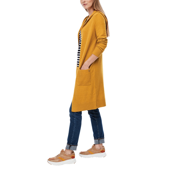 Long-Cardigan aus Wollmix - Strickjacke