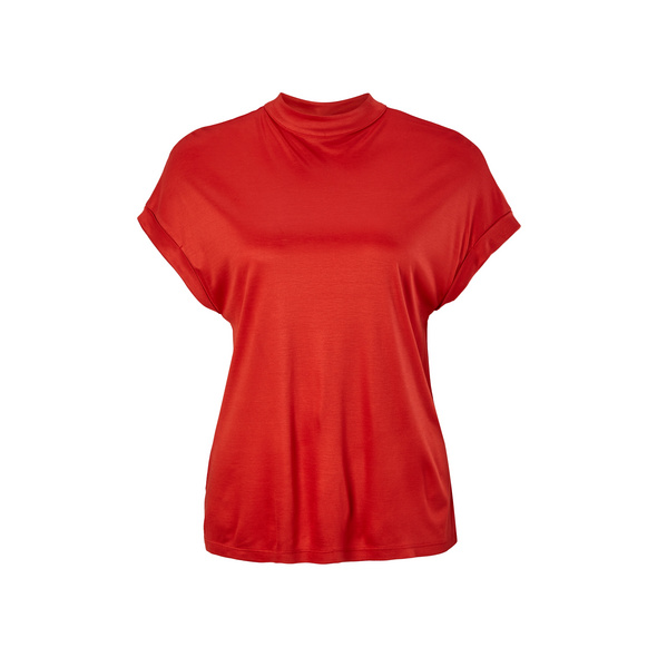 Viskoseshirt mit Stehkragen - Jerseyshirt