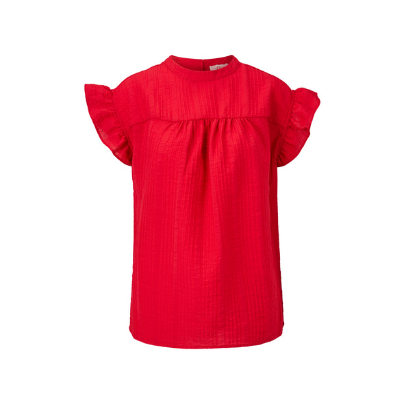 Jacquard-Bluse mit Rüschen - Blusentop