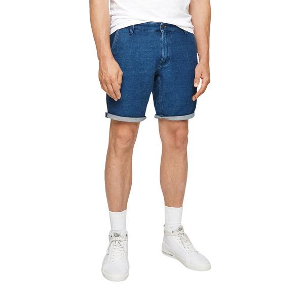 Regular Fit: Sweatdenim-Shorts - Bermuda