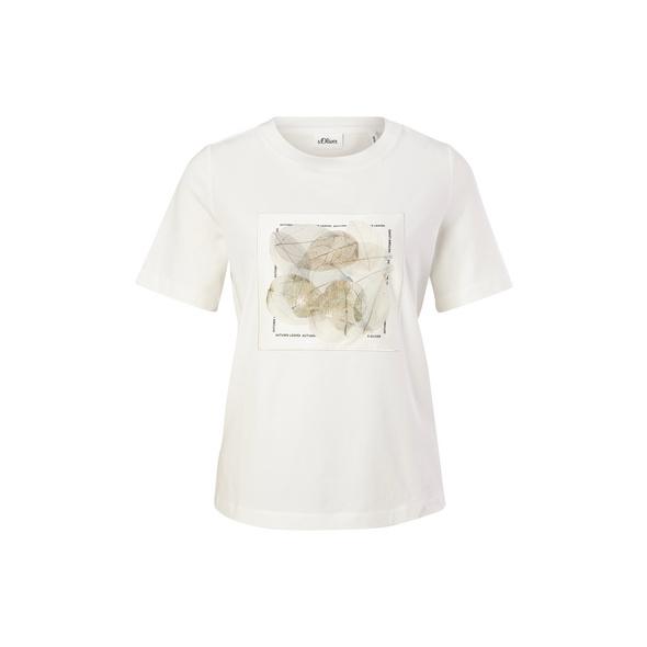 Jerseyshirt mit Satin-Print - T-Shirt