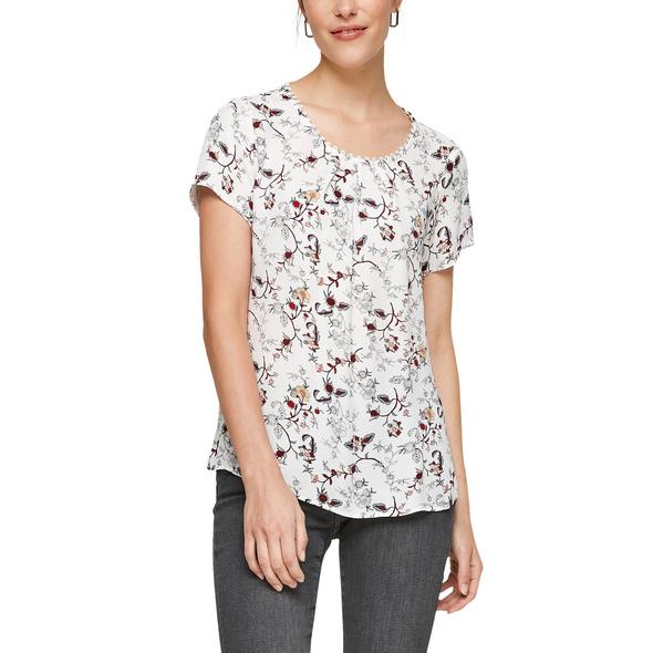 Kurzarmbluse mit Blumenmuster - T-Shirt