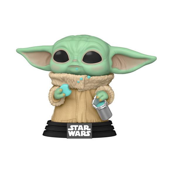 Star Wars - The Mandalorian - POP!-Vinyl Figur Grogu mit Keks