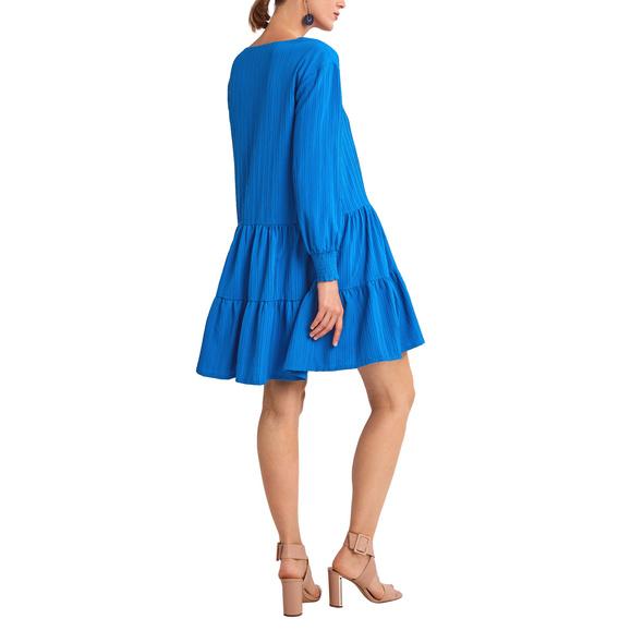 Jacquardkleid aus Viskosemix - Stufenkleid