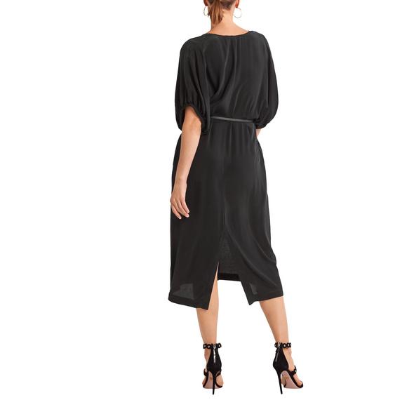 Tailliertes Kleid aus Cupromix - Midikleid