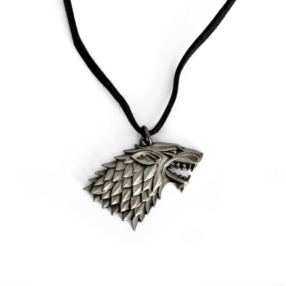Game of Thrones - Stark Wappen Schattenwolf Kette