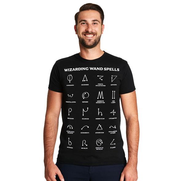 Spells Chart T-Shirt für Harry Potter Fans
