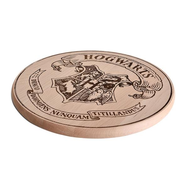 Harry Potter - Hogwarts Wappen Schneidebrett Buche