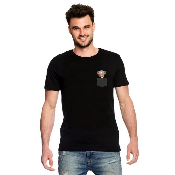 One Piece - Pocket Luffy T-Shirt schwarz