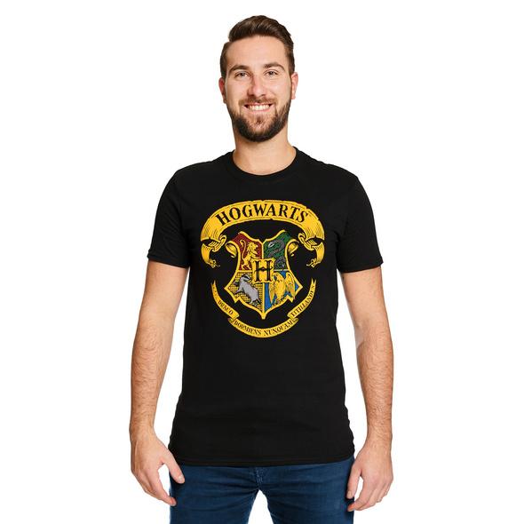 Harry Potter - Hogwarts Wappen T-Shirt schwarz