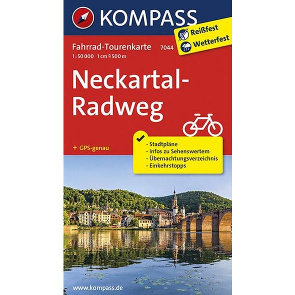 Fahrrad-Tourenkarte Neckartal-Radweg