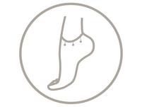 Fußkette - Triple Stones