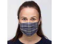 Mundbedeckung - Blue Checkered