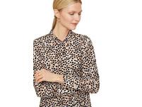 Long-Bluse mit Allover-Print - Chiffon-Bluse