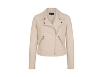 Jacke in Veloursleder-Optik - Bikerjacke